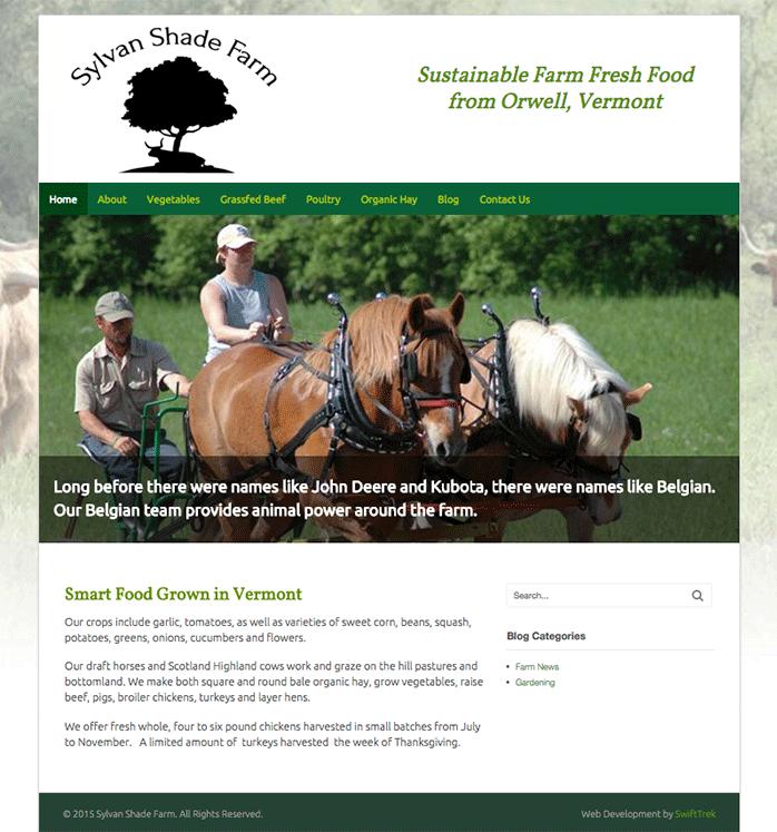 Sylvan Shade Farm home page
