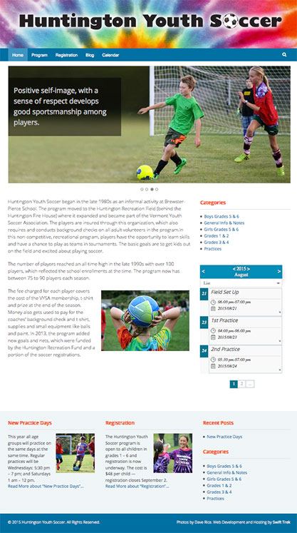 Huntington Youth Soccer website