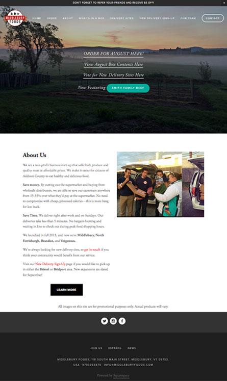Middlebury Foods website