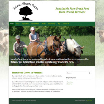 Sylvan Shade Farm website