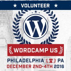 Wordcamp Volunteer 2016 Badge