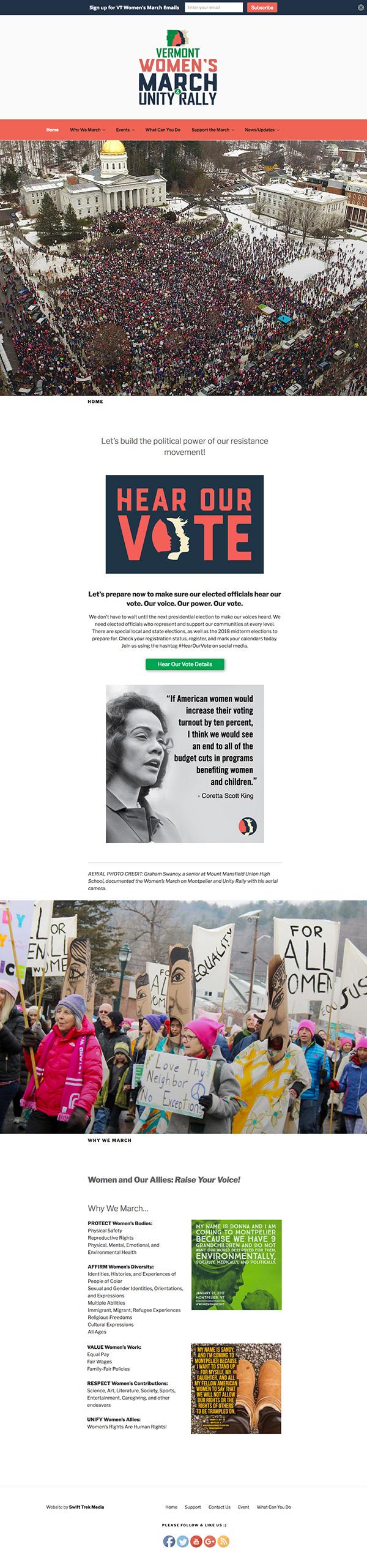 Women's March on Montpelier Website